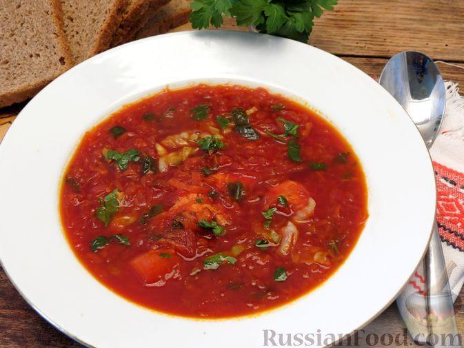 Фото к рецепту: Борщ со шпинатом