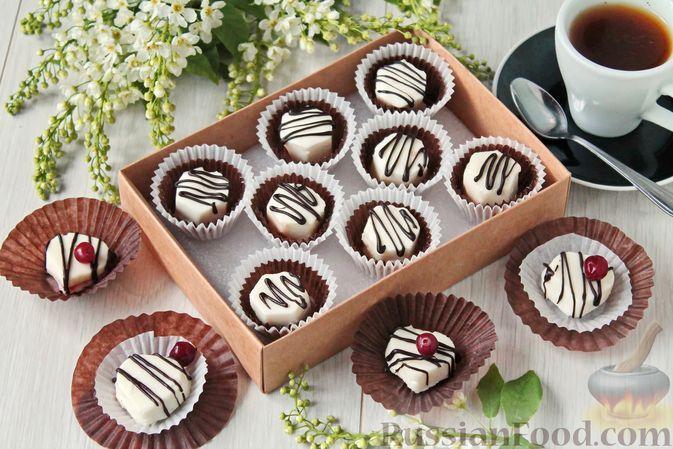 Фото к рецепту: Сливочные конфеты с белым шоколадом и джемом