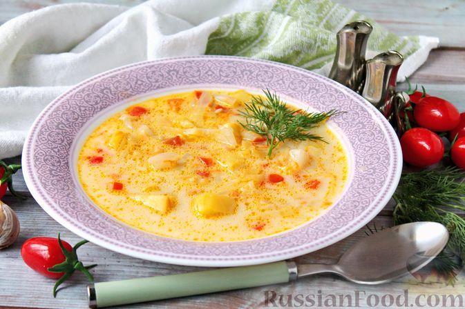 Фото к рецепту: Щи из свежей капусты с плавленым сыром