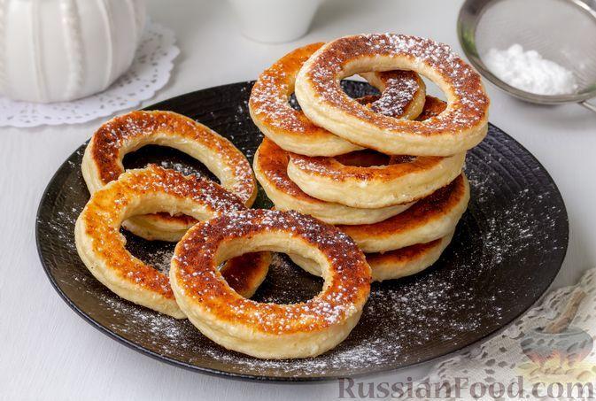 Фото к рецепту: Творожные кольца (на сковороде)