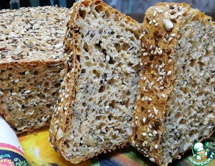 Рецепт: Быстрый хлеб из цельнозерновой муки с семечками