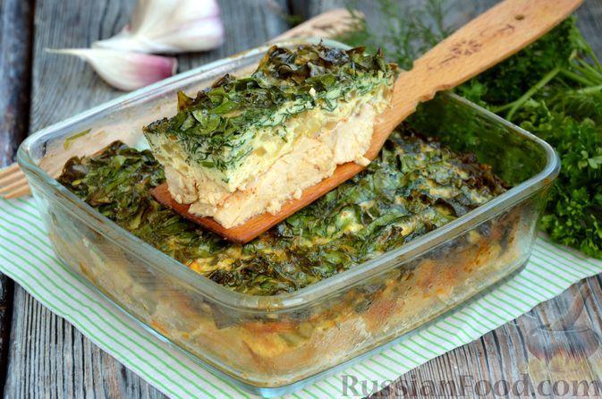 Фото к рецепту: Куриная грудка, запечённая со шпинатом