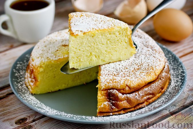 Фото к рецепту: Йогуртово-лимонный пирог с крахмалом (без муки)