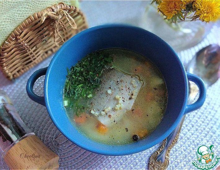 Рецепт: Диетический рыбный суп с пшеном