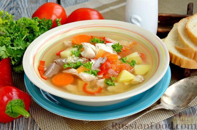 Фото к рецепту: Рыбный суп с овощами и булгуром