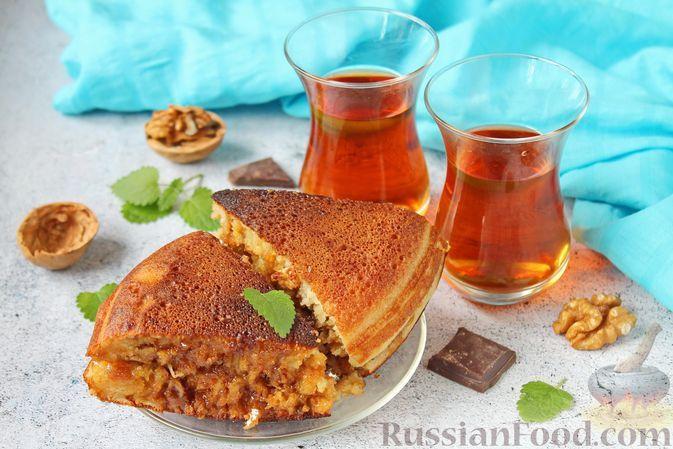 Фото к рецепту: Мартабак манис с варёной сгущёнкой, сыром, орехами и шоколадом