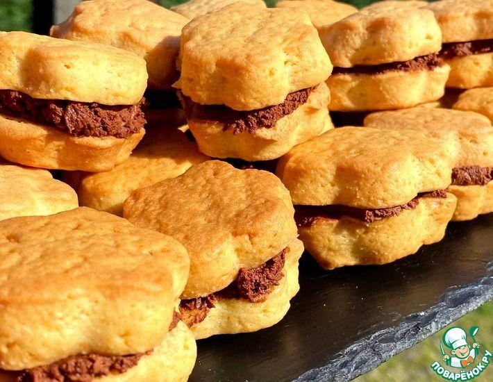 Рецепт: Печенье с шоколадным кремом