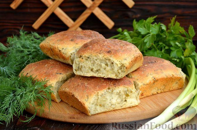 Фото к рецепту: Хлебные булочки с зеленью