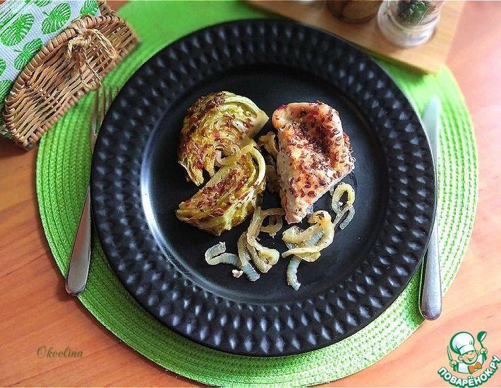 Рецепт: Запечённая индейка с молодой капустой