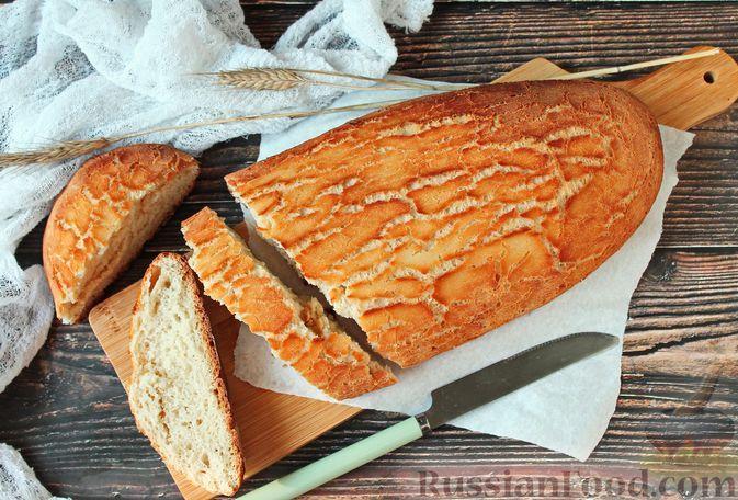 """Фото к рецепту: Пшеничный """"тигровый"""" хлеб на опаре бига, с корочкой из рисовой муки"""