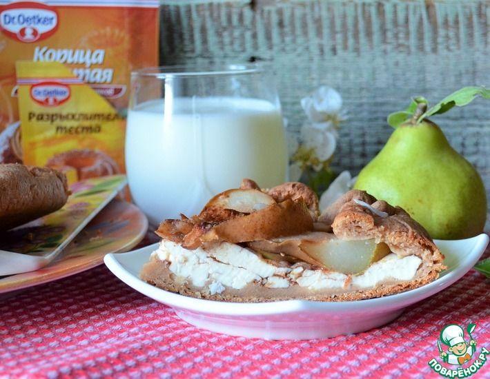 Рецепт: Деревенская галета с сыром и грушами