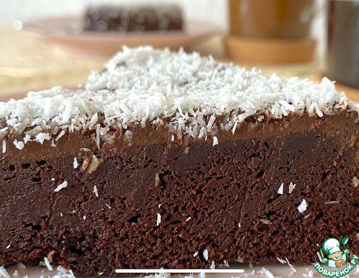 Рецепт: Шоколадный торт без муки, сахара, глютена