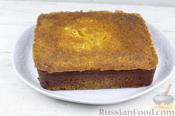 Фото к рецепту: Кукурузный медовый хлеб на сметане (бездрожжевой)