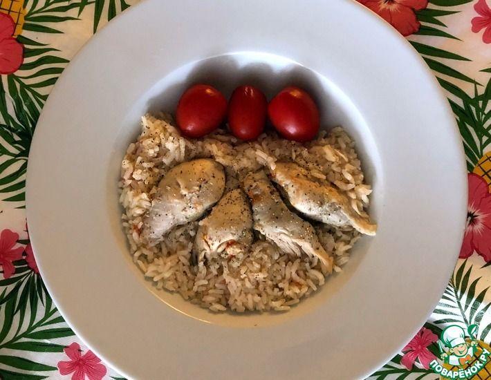 Рецепт: Сваренный рис на томатно-курином бульоне