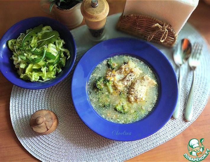 Рецепт: Рыбный суп с гречкой и брокколи
