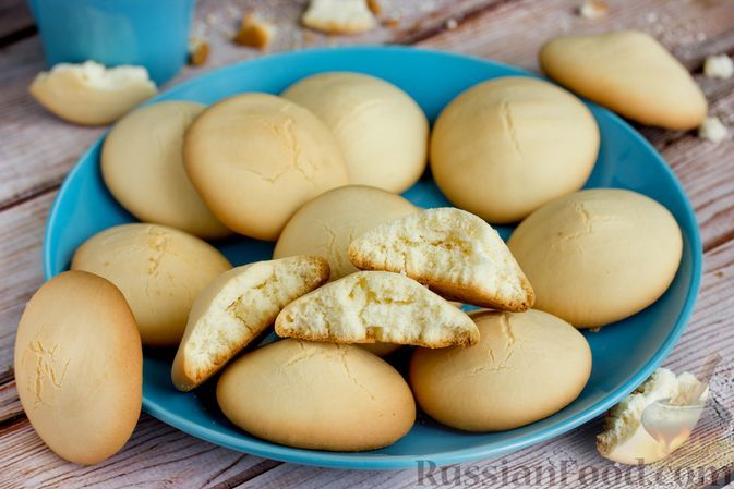 Фото к рецепту: Кукурузное печенье на сгущенном молоке