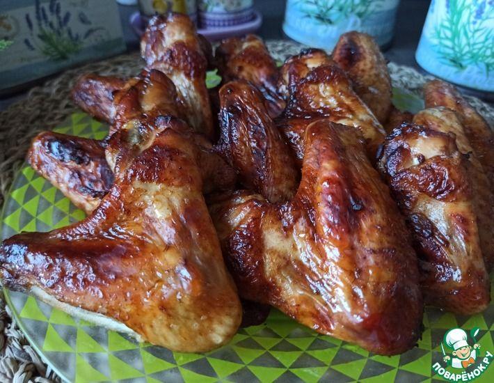 Рецепт: Куриные крылышки в медово-чесночном маринаде