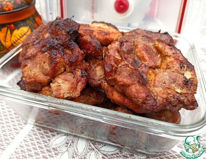 Рецепт: Ароматное мясо на углях
