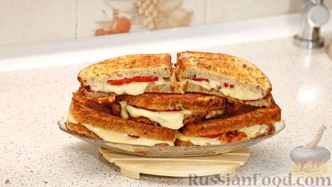 Фото к рецепту: Горячие бутерброды с беконом