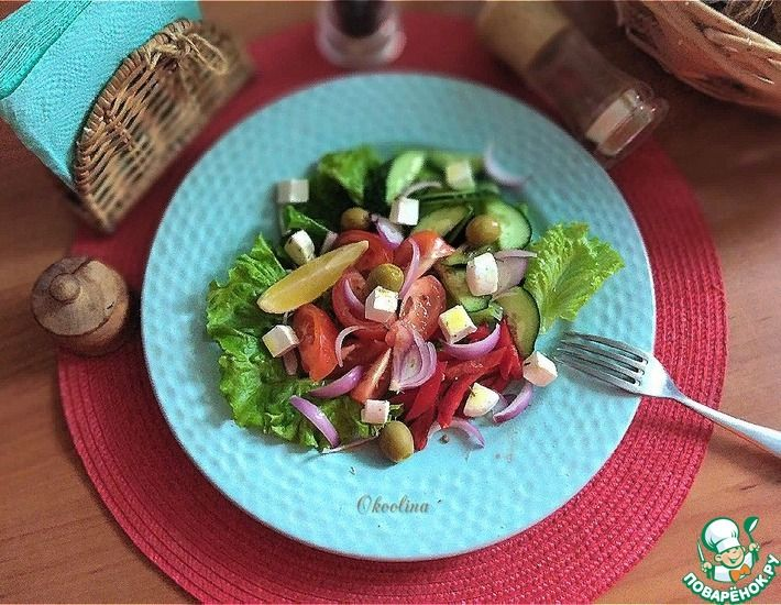 Рецепт: А-ля Греческий салат