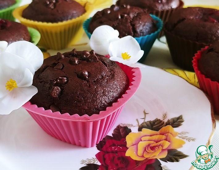 Рецепт: Шоколадные кексы без яиц и масла