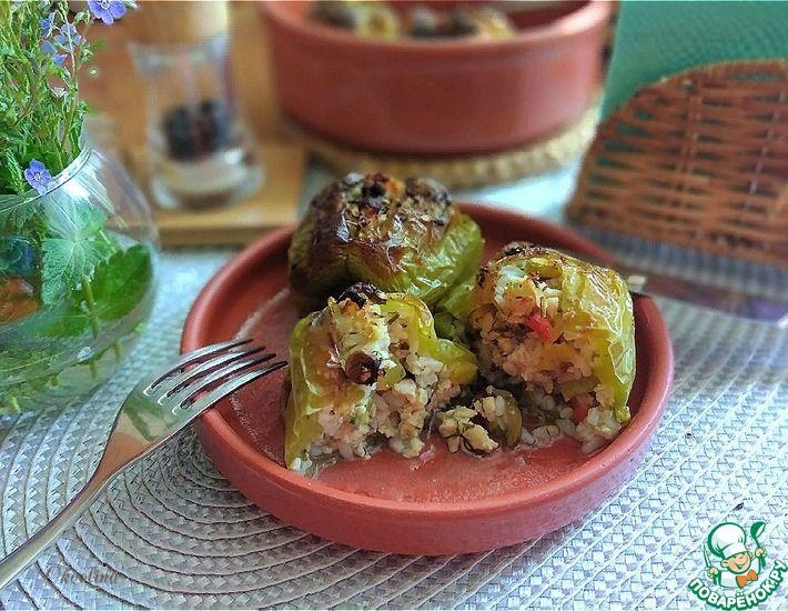 Рецепт: Фаршированные запечённые перцы