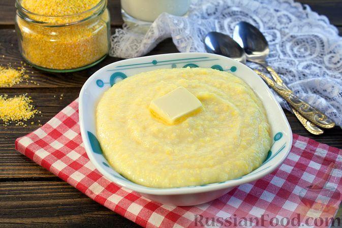 Фото к рецепту: Молочная манная каша с кукурузной крупой