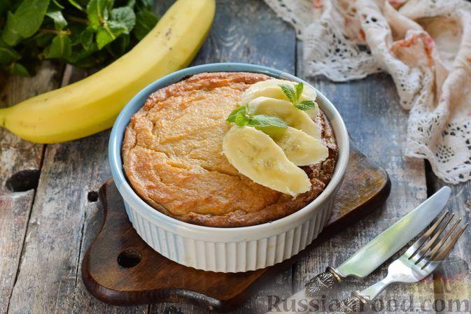 Фото к рецепту: Банановая творожная запеканка