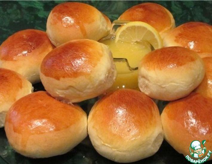 Рецепт: Ароматные булочки с повидлом как в детстве