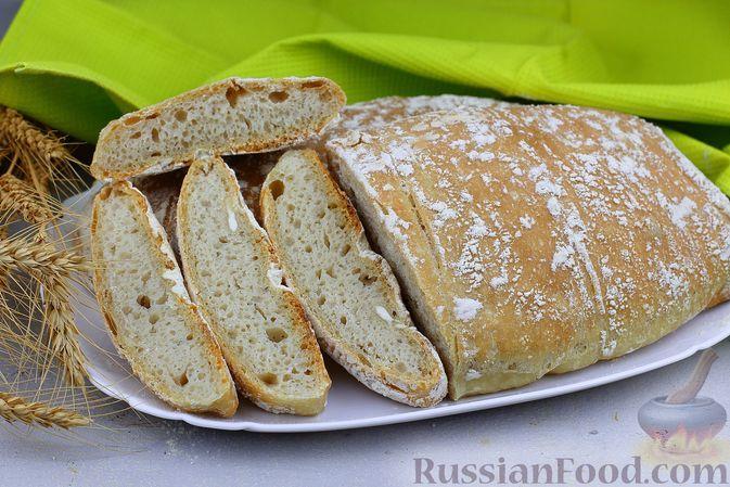 Фото к рецепту: Чиабатта на молоке и оливковом масле
