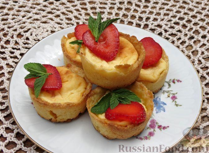Фото к рецепту: Творожные чизкейки-корзиночки