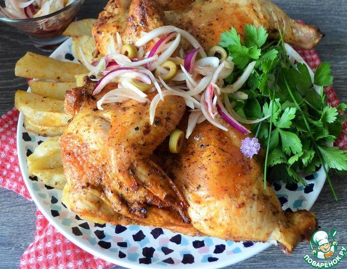Рецепт: Курица с маринованным луком Пикник
