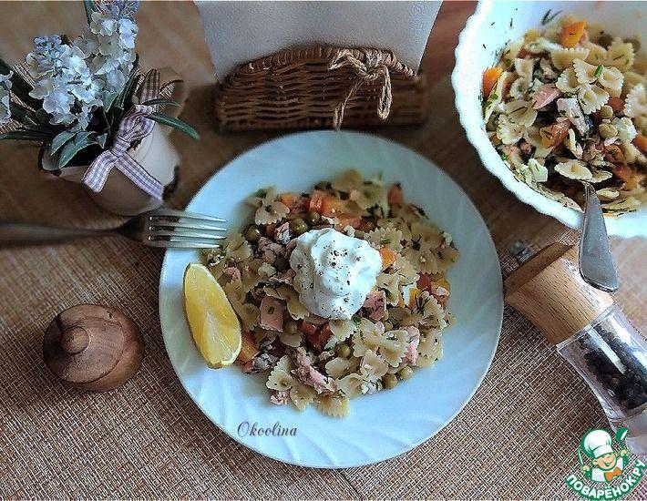 Рецепт: Рыбный салат с пастой