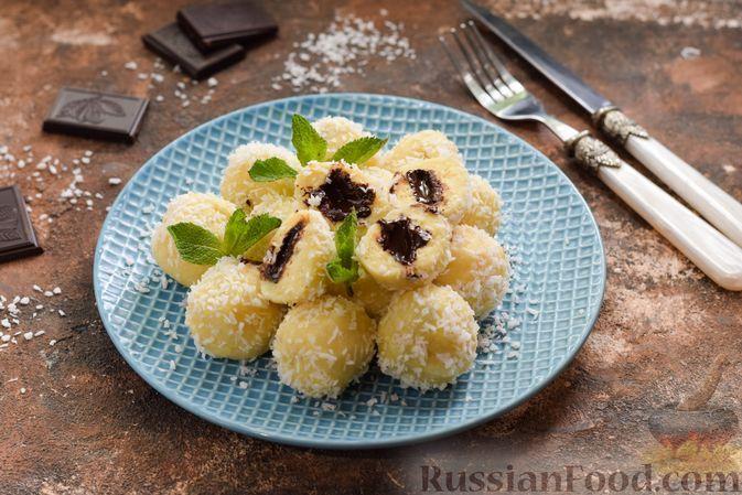 Фото к рецепту: Рисовые ленивые вареники с шоколадом