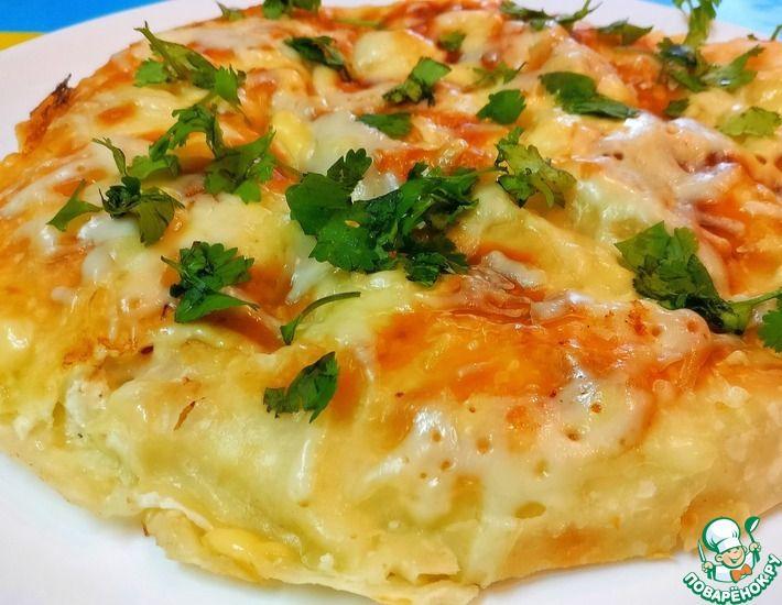 Рецепт: Ленивая пицца-яичница из лаваша за 5 минут. Рецепт на завтрак, обед или ужин