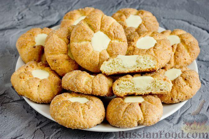 Фото к рецепту: Творожное печенье с белым шоколадом