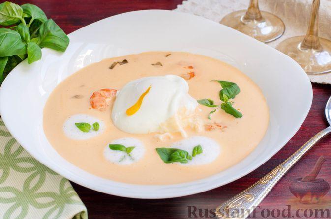 """Фото к рецепту: Креветочный суп """"Биск"""""""