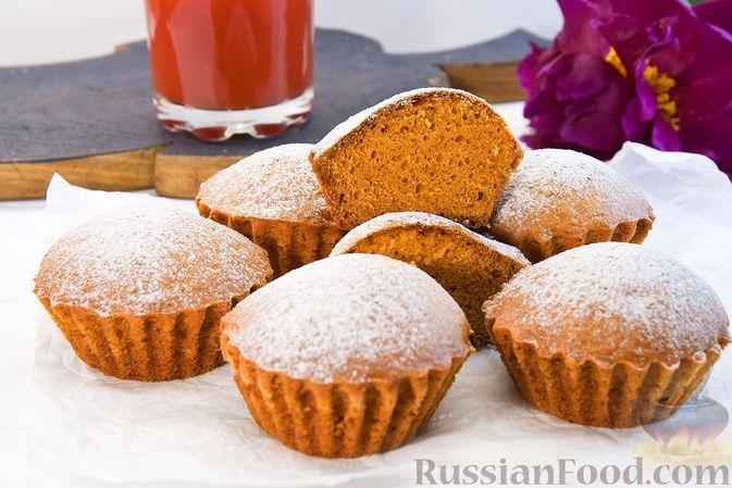 Фото к рецепту: Кексы на томатном соке