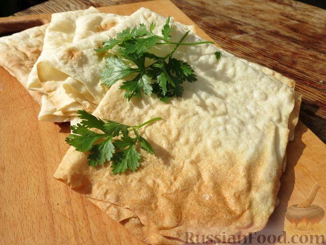 Фото к рецепту: Листовой лаваш (в духовке)