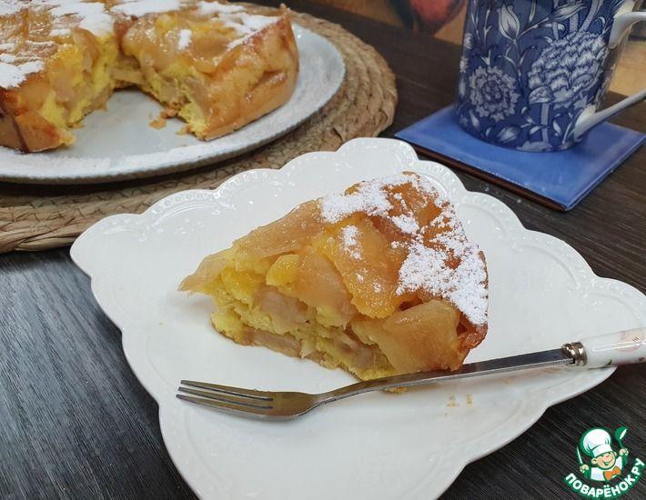 Рецепт: Карамельно-яблочный пирог