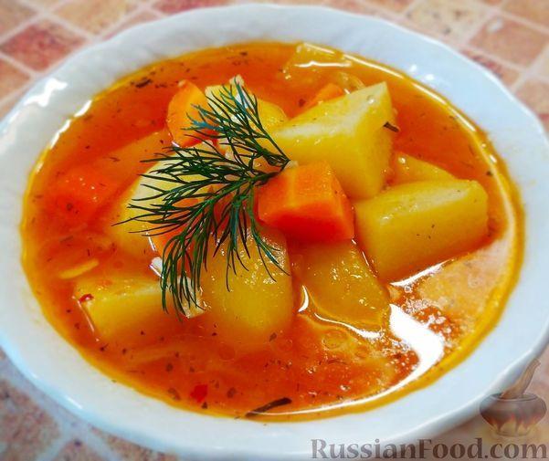 Фото к рецепту: Суп с лечо (в мультиварке)