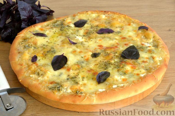 """Фото к рецепту: Пицца """"Четыре сыра"""""""