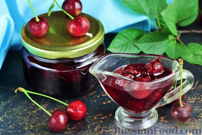Фото к рецепту: Варенье из вишни с корицей (на зиму)