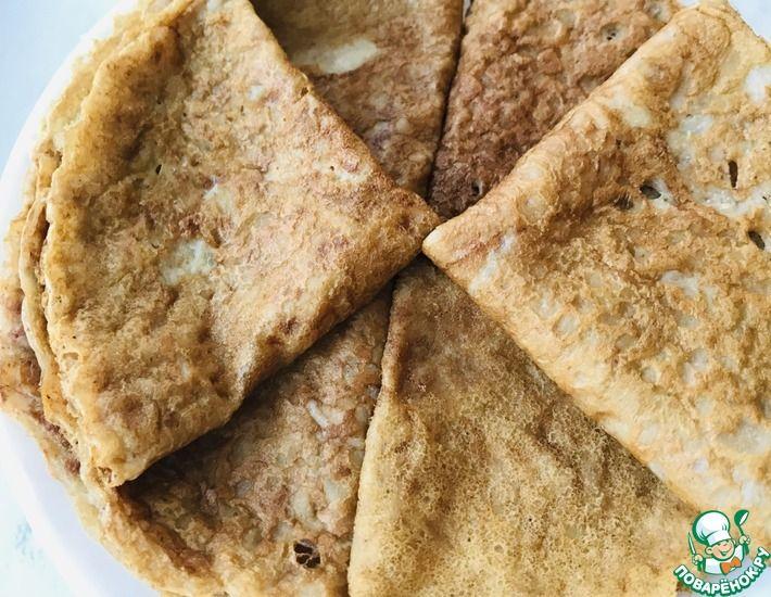 Рецепт: Полезные блины из зеленой гречки без яиц и муки