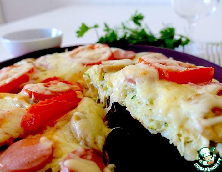 Рецепт: Пицца из кабачка и картофеля