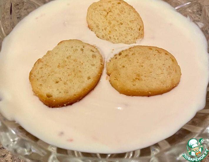 Рецепт: Крахмальный суп-пюре с нотками плавленого сыра