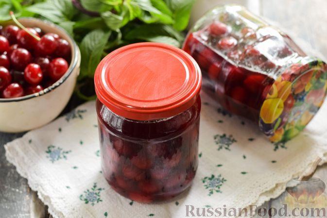 Фото к рецепту: Пряная маринованная вишня (на зиму)