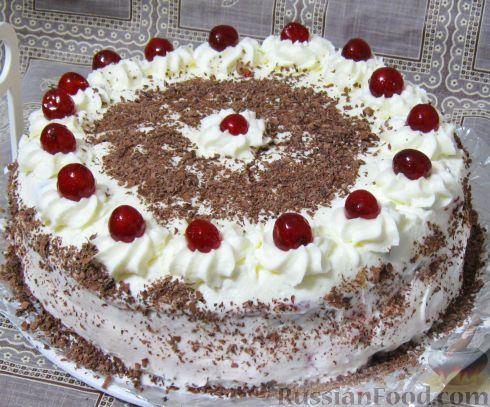 Фото к рецепту: Шварцвальдский вишнёвый торт (Schwarzwälder Kirschtorte)