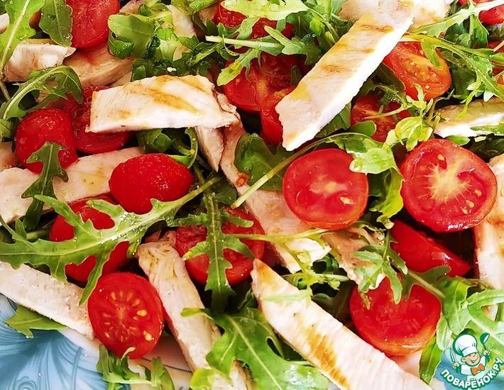 Рецепт: Салат с куриной грудкой и рукколой