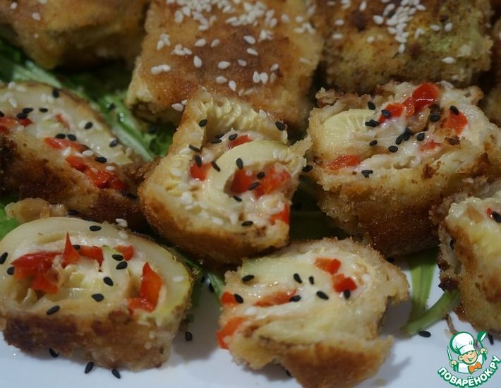 Рецепт: Рулеты из кабачков